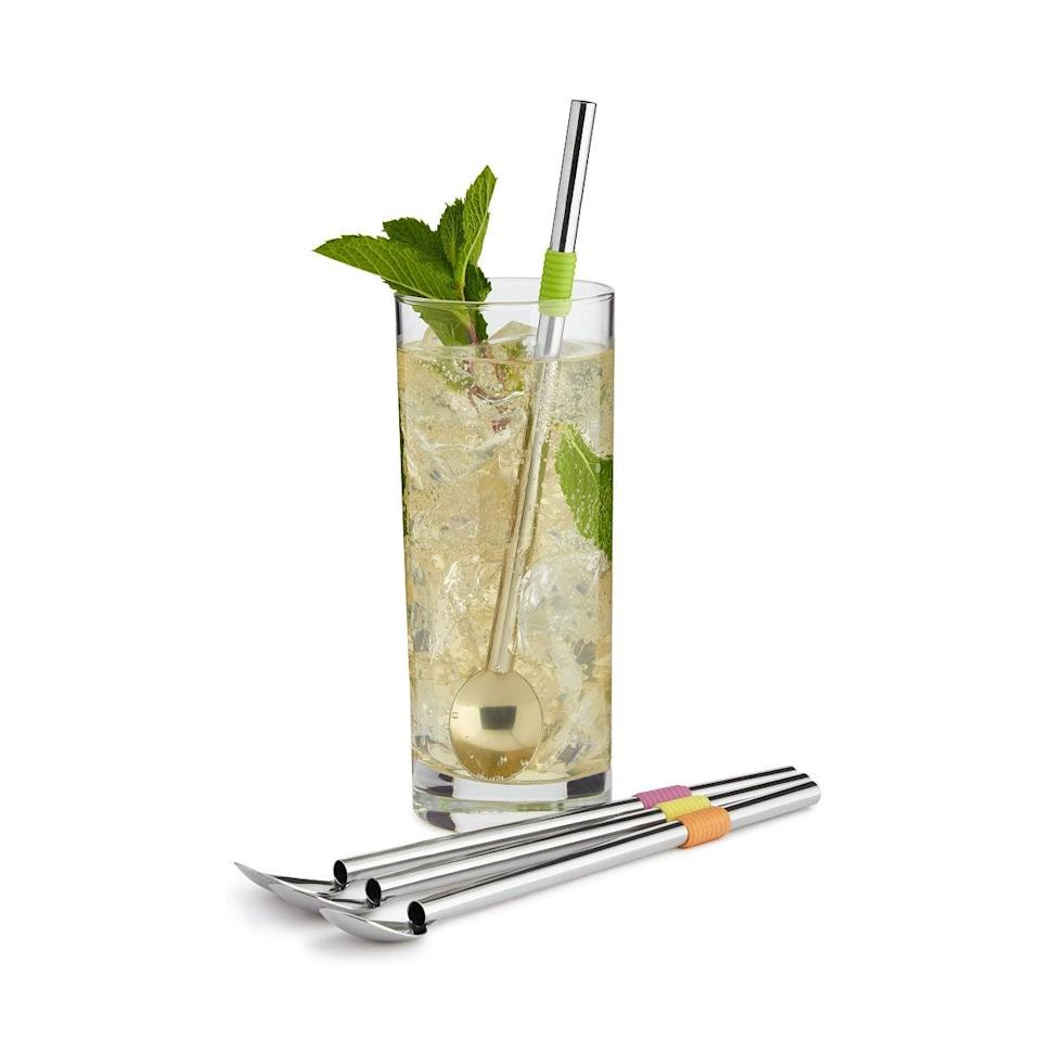 <p>Make life easier with the <span>Cocktail Spoon Straws</span> ($14). You can mix and drink with the same utensil.</p>