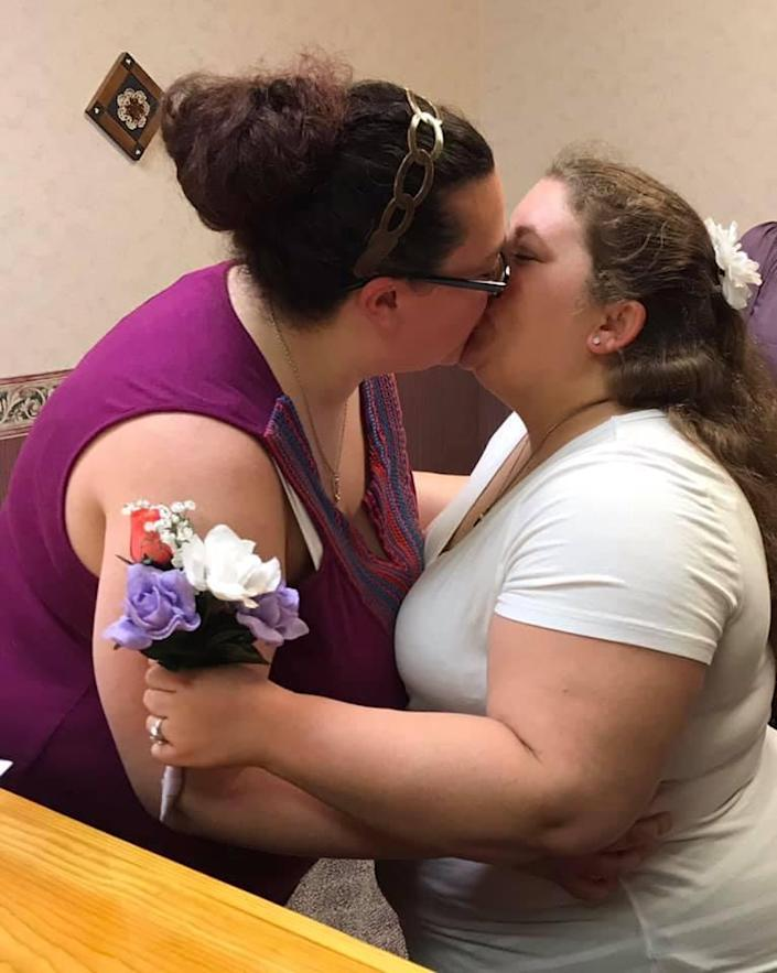 Bailey and Samantha Brazzel were married in July 2018.