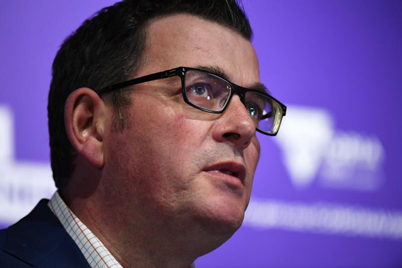 Premier Daniel Andrews announced the grim record total on Friday. Source: AAP