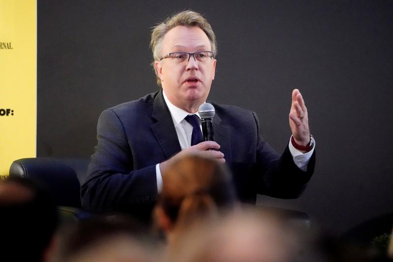 FILE PHOTO: John Williams, CEO of the Federal Reserve Bank of New York, speaks at an event in New York
