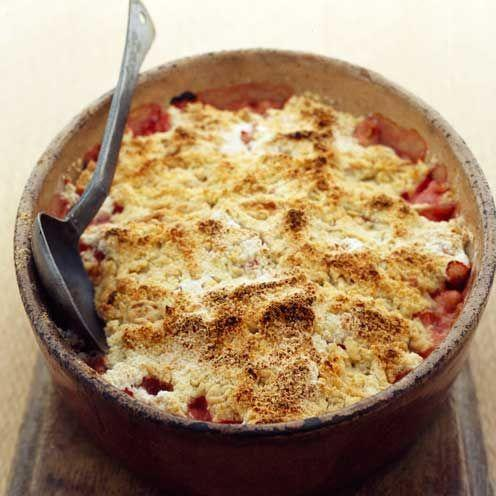 """<p>This rhubarb crumble recipe combines sweet and sour: sharp, fruity rhubarb with a crunchy crumble topping.</p><p><strong>Recipe: <a href=""""https://www.goodhousekeeping.com/uk/food/recipes/a537268/rhubarb-crumble/"""" rel=""""nofollow noopener"""" target=""""_blank"""" data-ylk=""""slk:Rhubarb crumble"""" class=""""link rapid-noclick-resp"""">Rhubarb crumble</a></strong></p>"""