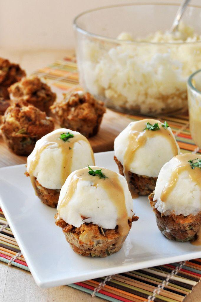 """<p>Or, you can serve 'em with a scoop of mashed potatoes on top and call it a day. Oh, and these are also vegan and gluten-free!</p><p><em><a href=""""http://thecolorfulkitchen.com/2014/11/10/vegan-gluten-free-thanksgiving-stuffing-muffins-topped-mashed-potatoes-gravy/"""" rel=""""nofollow noopener"""" target=""""_blank"""" data-ylk=""""slk:Get the recipe from The Colorful Kitchen »"""" class=""""link rapid-noclick-resp"""">Get the recipe from The Colorful Kitchen »</a></em> </p>"""