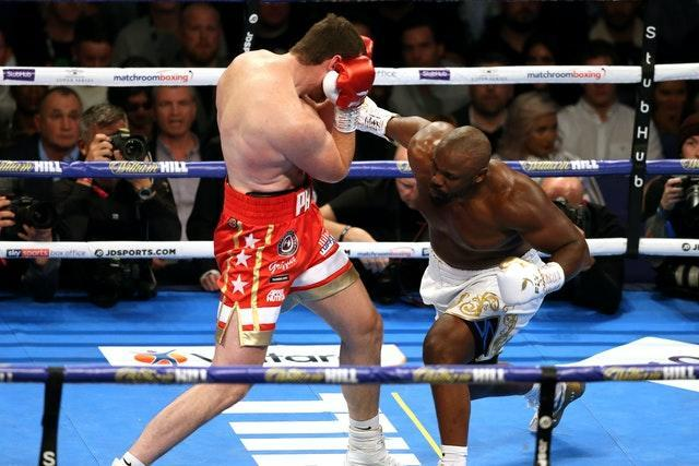 Dereck Chisora, right, says he has only had one week off since beating David Price in Ocotber last year (Paul Harding/PA)