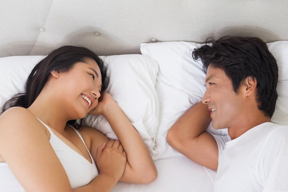 Face-to-face not touching sleep position