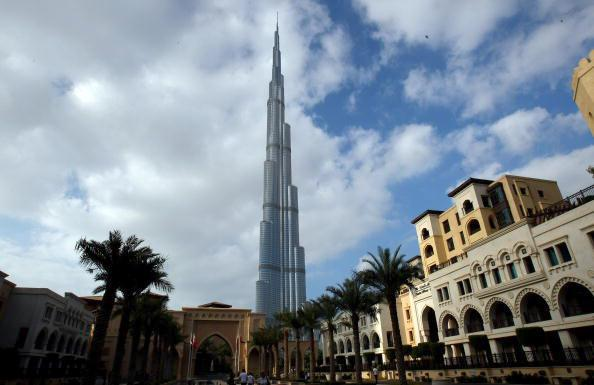 The Burj Khalifa in Dubai is the world's tallest tower. Photograph: Martin Rose/Getty Images