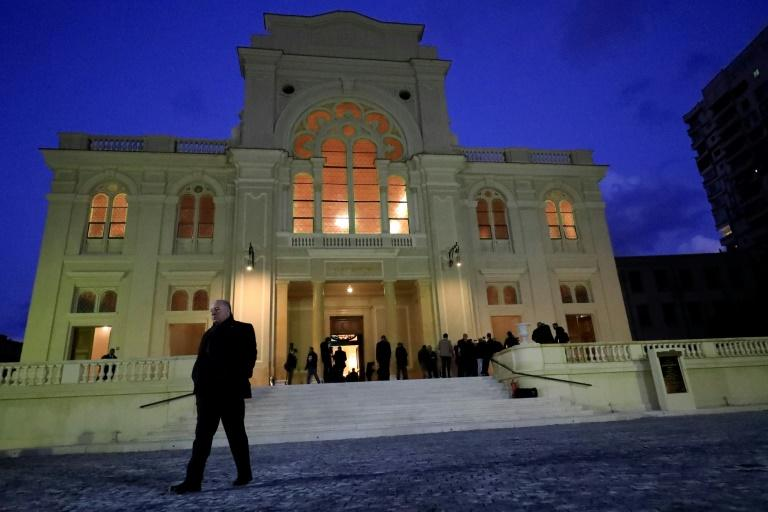 Guests visit the newly renovated Eliyahu Hanavi synagogue in the Egyptian city of Alexandria (AFP Photo/Khaled DESOUKI)