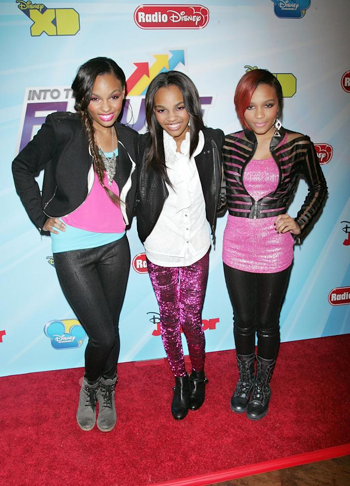 """Sierra McClain, China Anne McClain (""""<a href=""""http://tv.yahoo.com/a-n-t-farm/show/46897"""">A.N.T. Farm</a>""""), and Lauryn McClain attend the 2012-13 Disney Channel Worldwide Kids Upfront event at the Hard  Rock Cafe: Times Square on March 13, 2012 in New York City."""