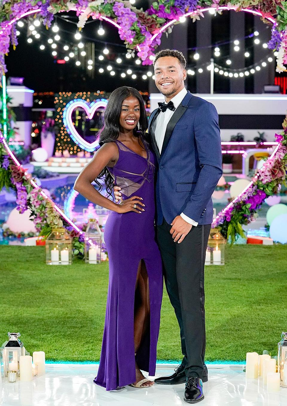 """<p>The <em>Love Island</em> fan favorites and season 2 winners <a href=""""https://people.com/tv/love-island-justine-ndiba-caleb-corprew-split/"""" rel=""""nofollow noopener"""" target=""""_blank"""" data-ylk=""""slk:split."""" class=""""link rapid-noclick-resp"""">split.</a></p> <p>Ndiba, 27, and Corprew, 24, were the <a href=""""https://people.com/tv/love-island-stars-justine-caleb-talk-surreal-experience-first-black-couple-to-win/"""" rel=""""nofollow noopener"""" target=""""_blank"""" data-ylk=""""slk:first Black couple to win"""" class=""""link rapid-noclick-resp"""">first Black couple to win</a> in the franchise's history. News of their split came nearly four months after their win was revealed.</p> <p>""""It's truly a strange feeling to be typing this out but I understand my reality is now having to share some aspects of my life with you all regardless of how private I'd like to remain at times,"""" Justine <a href=""""https://www.instagram.com/p/CKIiJ4Vhryf/?utm_source=ig_embed"""" rel=""""nofollow noopener"""" target=""""_blank"""" data-ylk=""""slk:wrote"""" class=""""link rapid-noclick-resp"""">wrote</a> in a statement posted on Instagram, in which she explained, """"Caleb and I are no longer together."""" </p> <p>Caleb spoke out in a statement as well, acknowledging their split. """"As many of you already know, Justine and I are no longer together. I wish her the absolute best and much continued success as God blesses her with new opportunities and adventures,"""" he wrote, going on to ask for privacy at this time. </p>"""