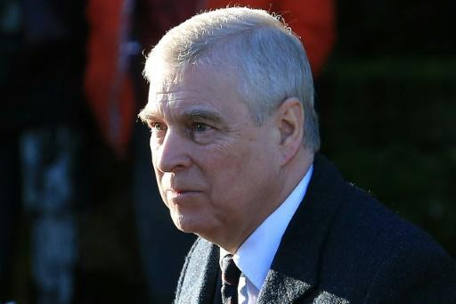 Britain's Prince Andrew, pictured here in January 2020, denies he claims he had sex with a 17-year-old girl procured by Jeffrey Epstein