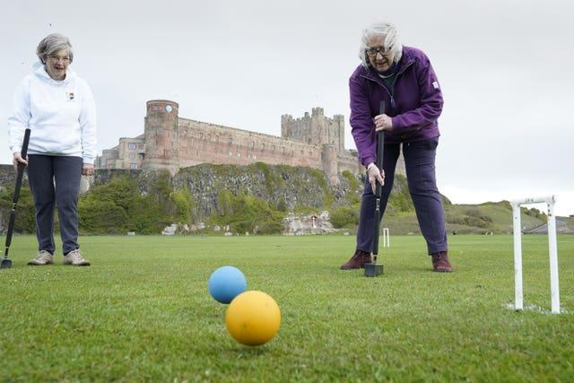 Croquet was the order of the day at Bamburgh Castle