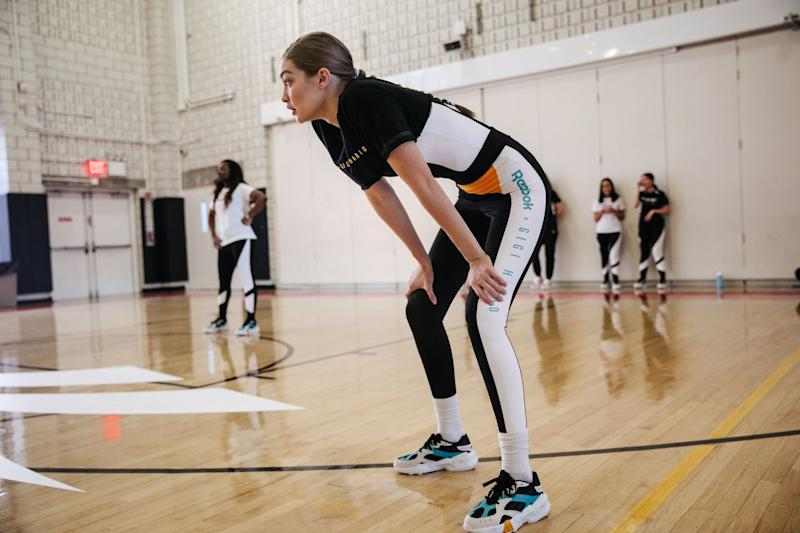 61036bea6 Gigi Hadid Looks to Her High School Volleyball Days for New Reebok ...