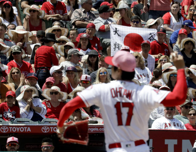 Shohei Ohtani impressed at least one player on the Twins during his dominant start Sunday. (AP Photo)