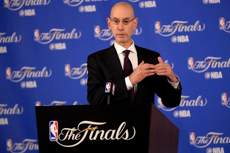 NBA Commissioner Adam Silver believes the rest of the league needs to rise to meet the Warriors. (Getty Images)