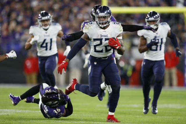 Tennessee Titans running back Derrick Henry (22) had a great finish to last season. (AP Photo/Julio Cortez)