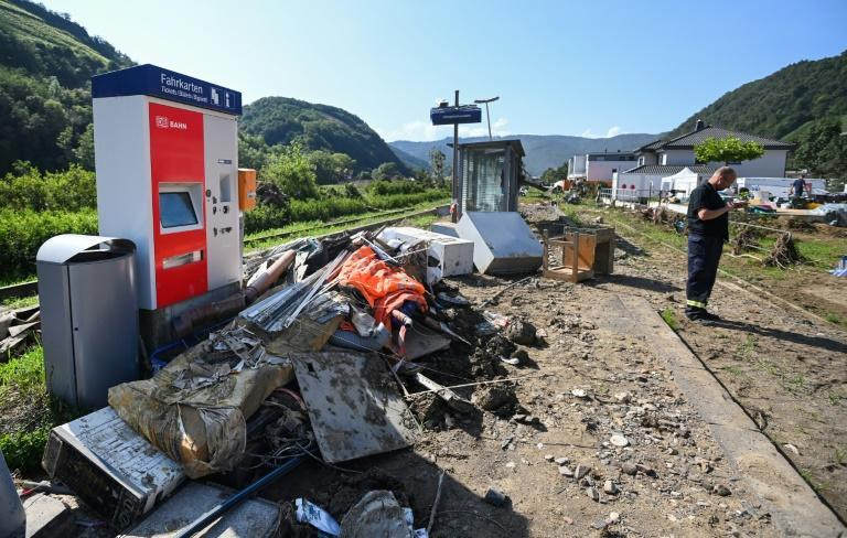 Before the floods, Dernau was a picturesque town, framed by steep valley slopes covered in vineyards (AFP/INA FASSBENDER)