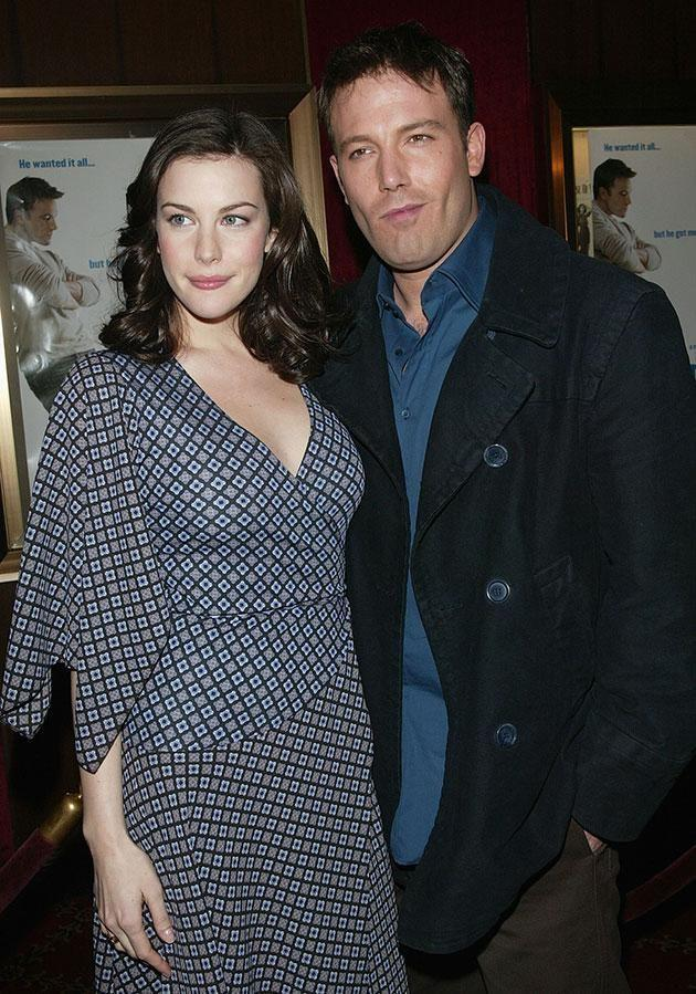 Ben looked cheeky at the Jersey Girl premiere in 2004 with Liv Tyler. Source: Getty
