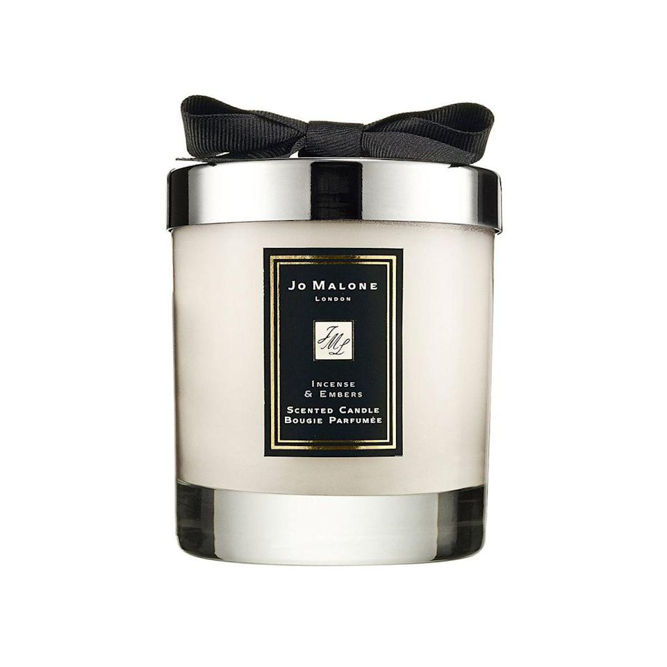One of Jo Malone's warmest scents, this candle features a bit of mystery. It's smoky but also bright as it's mixed with hints of silver fir, white pepper, leather, vetiver, and golden amber.