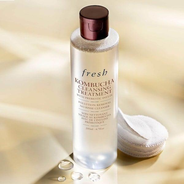 <p>This <span>Fresh Kombucha Cleansing Treatment</span> ($44) is like an amped up version of a micellar water. Use it with a cotton pad as a makeup remover and cleanser.</p>