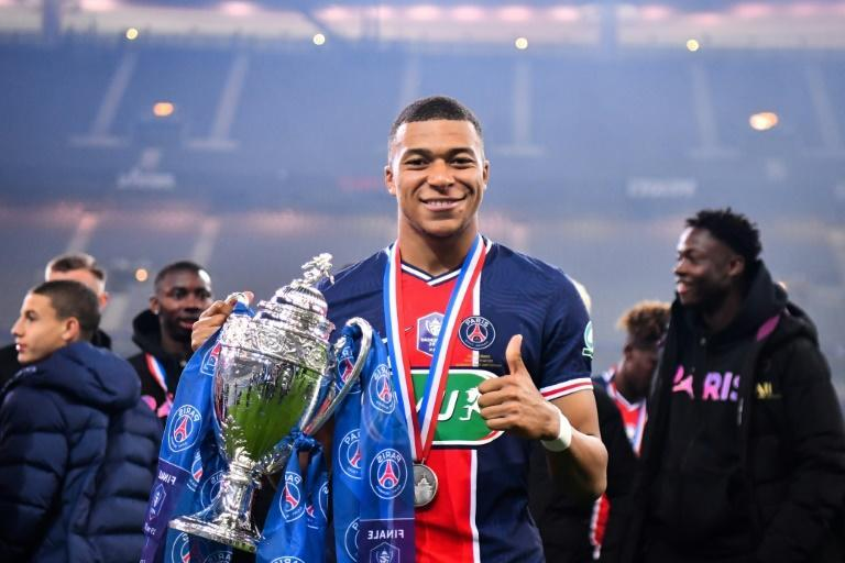 Paris Saint-Germain's French forward Kylian Mbappe can add the Ligue 1 title to the French Cup if Lille or draw lose on Sunday