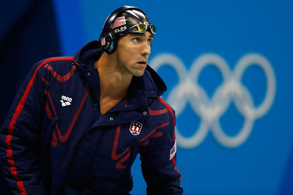 """<p>Despite """"retiring"""" for the first time four years prior, the swimmer revealed that Rio de Janeiro would certainly be his last Olympics. Competing at age 28, Phelps became the <a href=""""https://www.biography.com/athlete/michael-phelps#:~:text=Phelps%20competed%20in%20his%20first,at%20the%20age%20of%2028."""" rel=""""nofollow noopener"""" target=""""_blank"""" data-ylk=""""slk:oldest individual gold medalist"""" class=""""link rapid-noclick-resp"""">oldest individual gold medalist</a> in Olympic history. </p>"""