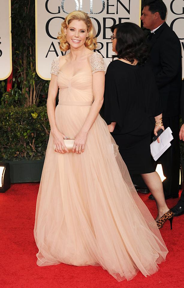 Julie Bowen arrives at the 69th Annual Golden Globe Awards in Beverly Hills, California, on January 15.