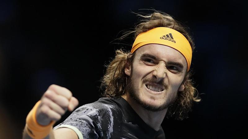 Stefanos Tsitsipas has beaten Daniil Medvedev at the ATP World Tour Finals in London