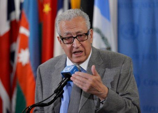 Lakhdar Brahimi on November 29, 2012 at UN headquarters in New York