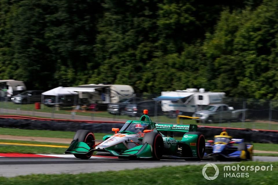"Colton Herta leads Alexander Rossi at Mid-Ohio. <span class=""copyright"">Phillip Abbott / Motorsport Images</span>"