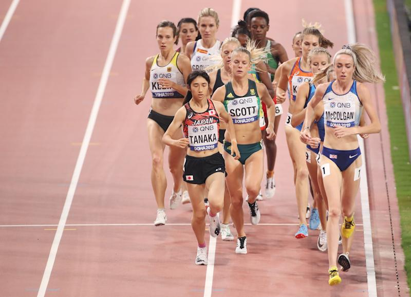Eilish McColgan of Great Britain competes in the Women's 5000 metres heats. (Getty Images)