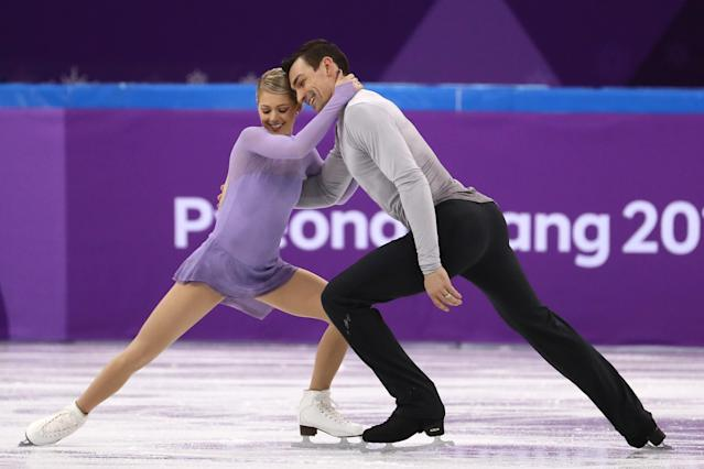 <p>As the only figure skating pair representing the USA in PyeongChang, Alexa Scimeca Knierem and Chris Knierem are the first American married couple to take to Olympic ice for Team USA in 20 years. The top placing U.S. team at the past three world championships, the Knierims were married in 2016, the same year Scimeca Knierim was struck with a debilitating and potentially deadly stomach illness. (Getty) </p>