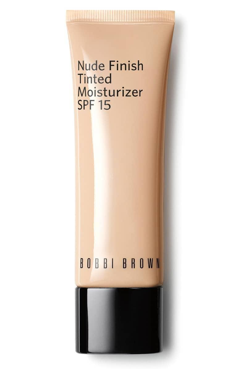 <p>If you've got normal to dry skin, reach for this hydrating <span>Bobbi Brown Nude Finish Tinted Moisturizer SPF 15</span> ($47).</p>