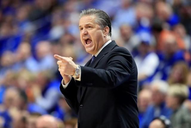 Calipari says he is disappointed the Wildcats won't play in London this year, partly because he was looking forward to meeting the Queen (AFP Photo/ANDY LYONS)