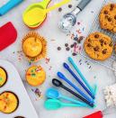 "<p><strong>delish</strong></p><p>delishessentials.com</p><p><strong>$5.99</strong></p><p><a href=""https://delishessentials.com/collections/baking/products/6pc-piece-plastic-measuring-spoons-multi-colored"" rel=""nofollow noopener"" target=""_blank"" data-ylk=""slk:Shop Now"" class=""link rapid-noclick-resp"">Shop Now</a></p><p>Our sister brand Delish launched an entire line of <a href=""https://delishessentials.com/"" rel=""nofollow noopener"" target=""_blank"" data-ylk=""slk:kitchen tools and bakeware"" class=""link rapid-noclick-resp"">kitchen tools and bakeware</a>, including these $6 measuring spoons, color-coded to help you find the right size faster while baking.</p>"