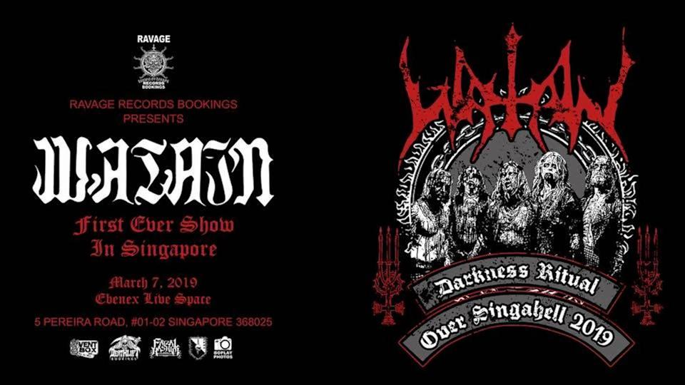 Swedish black metal band Watain is scheduled to perform in Singapore on 7 March 2019 at Ebenex Live Space. IMAGE: Facebook