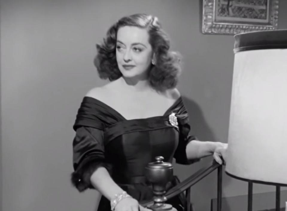 """This is a curious misinterpretation. Why have we collectively taken <strong>Bette Davis</strong>' <a href=""""https://www.youtube.com/watch?v=LPPJdOGshUM"""" rel=""""nofollow noopener"""" target=""""_blank"""" data-ylk=""""slk:most famous quote"""" class=""""link rapid-noclick-resp"""">most famous quote</a> from <em>All About Eve </em>(""""Fasten your seatbelts, it's going to be a bumpy night."""") and made it sound like she's a sadistic greeter at a Disney theme park ride? It's bumpy """"night,"""" people. No one's boarding a rollercoaster."""