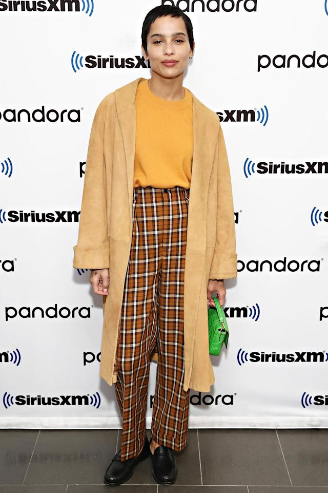 Zoë Kravitz promoted her Hulu series <em>High Fidelity </em>at the SiriusXM Studios in New York City.