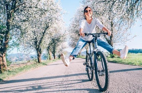 """<span class=""""attribution""""><a class=""""link rapid-noclick-resp"""" href=""""https://www.shutterstock.com/image-photo/happy-smiling-woman-cheerfully-spreads-legs-1305068761"""" rel=""""nofollow noopener"""" target=""""_blank"""" data-ylk=""""slk:Soloviova Liudmyla"""">Soloviova Liudmyla</a></span>"""