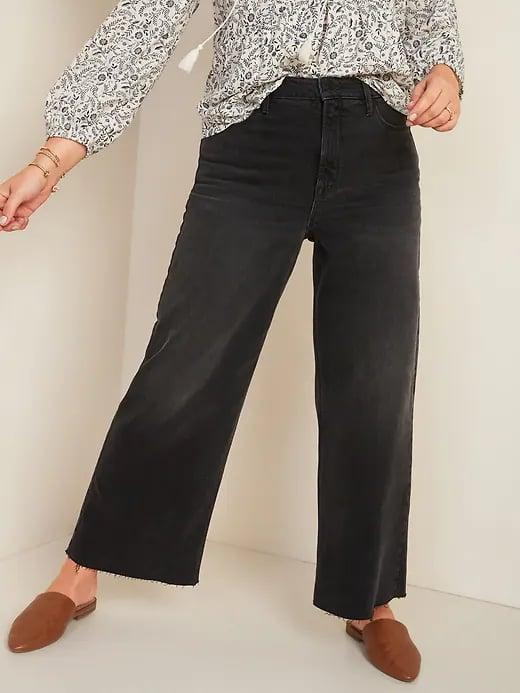 <p>Would you pair these <span>Old Navy Extra High-Waisted Wide-Leg Cut-Off Black Ankle Jeans for Women</span> ($35, originally $40) with a flowy top or something more fitted?</p>