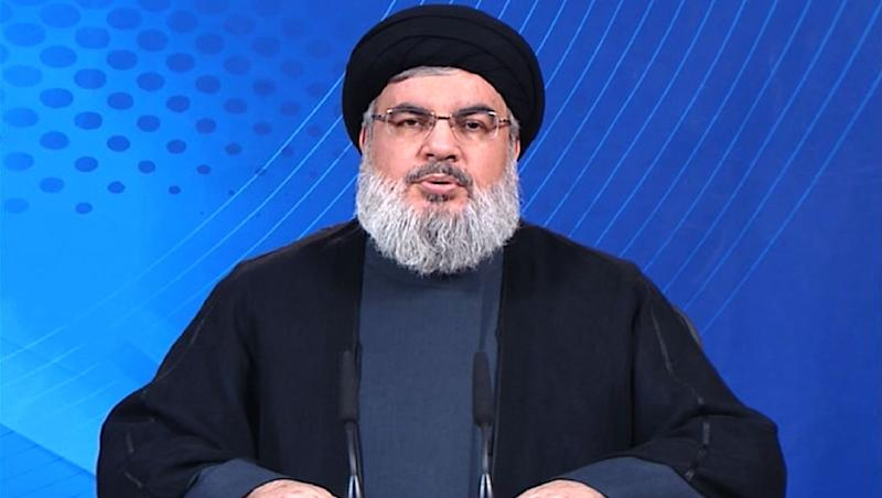 Hassan Nasrallah, head of Lebanon's militant Hezbollah movement, condemned the November 13 attacks in Paris during a TV address November 14, urging supporters not to retaliate against Syrian refugees after a November 12 bombing killed 44 in Lebanon