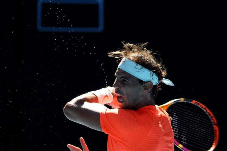 Spain's Rafael Nadal was a first-round winner against Serbia's Laslo Djere