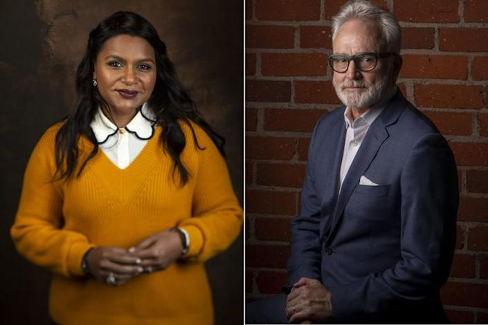 Separate images of Mindy Kaling and Bradley Whitford
