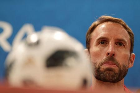 Soccer Football - World Cup - England Press Conference - Volgograd Arena, Volgograd, Russia - June 17, 2018 England manager Gareth Southgate during the press conference REUTERS/Ueslei Marcelino