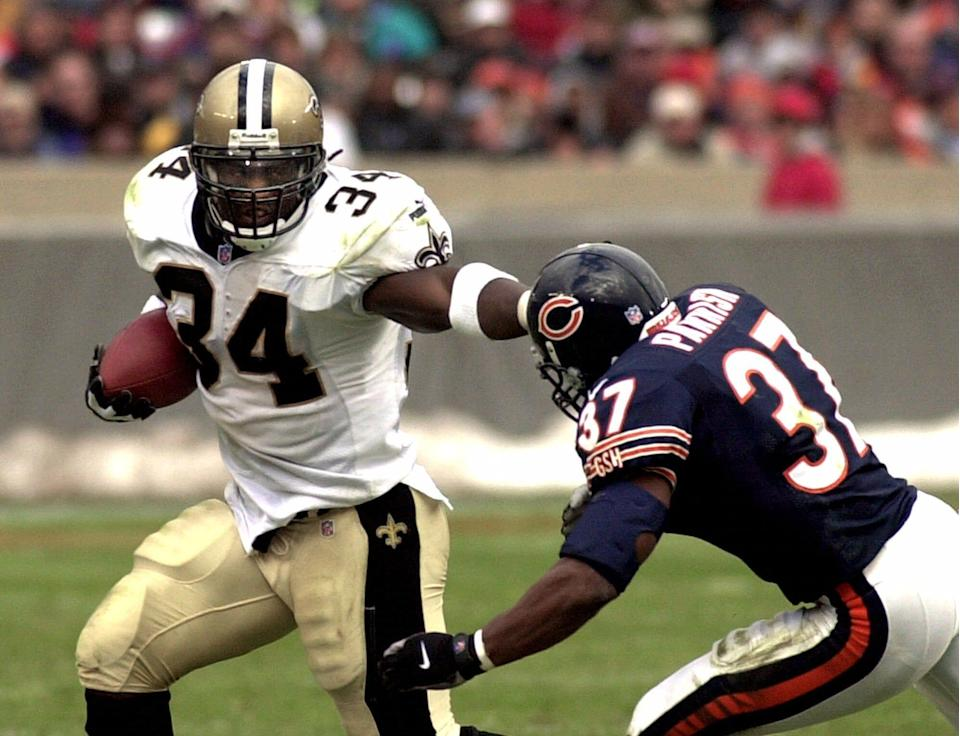 Ricky Williams was taken fifth overall in the 1999 NFL Draft by the New Orleans Saints.