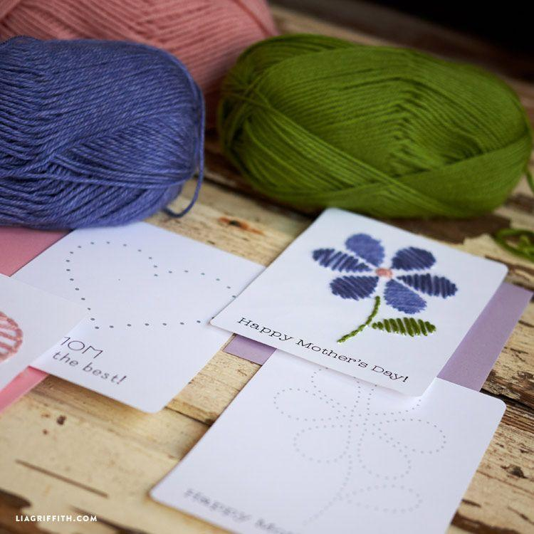 """<p>For less experienced sewers, simple yarn art cards are a great alternative. Try one of the printables available for an easy craft.</p><p><strong>Get the tutorial at <a href=""""https://go.redirectingat.com?id=74968X1596630&url=https%3A%2F%2Fliagriffith.com%2Fstring-art-yarn-card%2F&sref=https%3A%2F%2Fwww.thepioneerwoman.com%2Fholidays-celebrations%2Fg35668391%2Fdiy-mothers-day-cards%2F"""" rel=""""nofollow noopener"""" target=""""_blank"""" data-ylk=""""slk:Lia Griffith"""" class=""""link rapid-noclick-resp"""">Lia Griffith</a>.</strong></p><p><a class=""""link rapid-noclick-resp"""" href=""""https://www.amazon.com/Mira-Handcrafts-Acrylic-Knitting-Beginner/dp/B017OULYD0?tag=syn-yahoo-20&ascsubtag=%5Bartid%7C2164.g.35668391%5Bsrc%7Cyahoo-us"""" rel=""""nofollow noopener"""" target=""""_blank"""" data-ylk=""""slk:SHOP YARN"""">SHOP YARN</a></p>"""