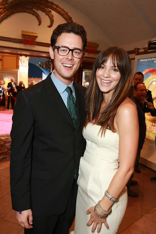 """<a href=""""http://movies.yahoo.com/movie/contributor/1800355564"""">Colin Hanks</a> and <a href=""""http://movies.yahoo.com/movie/contributor/1809807896"""">Katherine McPhee</a> at the Los Angeles Premiere of <a href=""""http://movies.yahoo.com/movie/1809921361/info"""">The House Bunny</a> - 08/20/2008"""