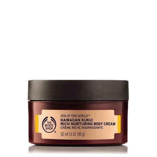 """<p><strong>The Body Shop</strong></p><p>thebodyshop.com</p><p><a href=""""https://go.redirectingat.com?id=74968X1596630&url=https%3A%2F%2Fwww.thebodyshop.com%2Fen-us%2Fbody%2Flotion-and-cream%2Fspa-of-the-world-hawaiian-kukui-cream%2Fp%2Fp000551&sref=https%3A%2F%2Fwww.redbookmag.com%2Fbeauty%2Fg35003747%2Fbody-lotions-with-the-best-scent%2F"""" rel=""""nofollow noopener"""" target=""""_blank"""" data-ylk=""""slk:Shop Now"""" class=""""link rapid-noclick-resp"""">Shop Now</a></p><p>This lotion relies on Hawaii's Kukui seed oil, which is rich in vitamins and essential fatty acids, to keep your skin supple. It basically smells like a tropical vacation.</p>"""