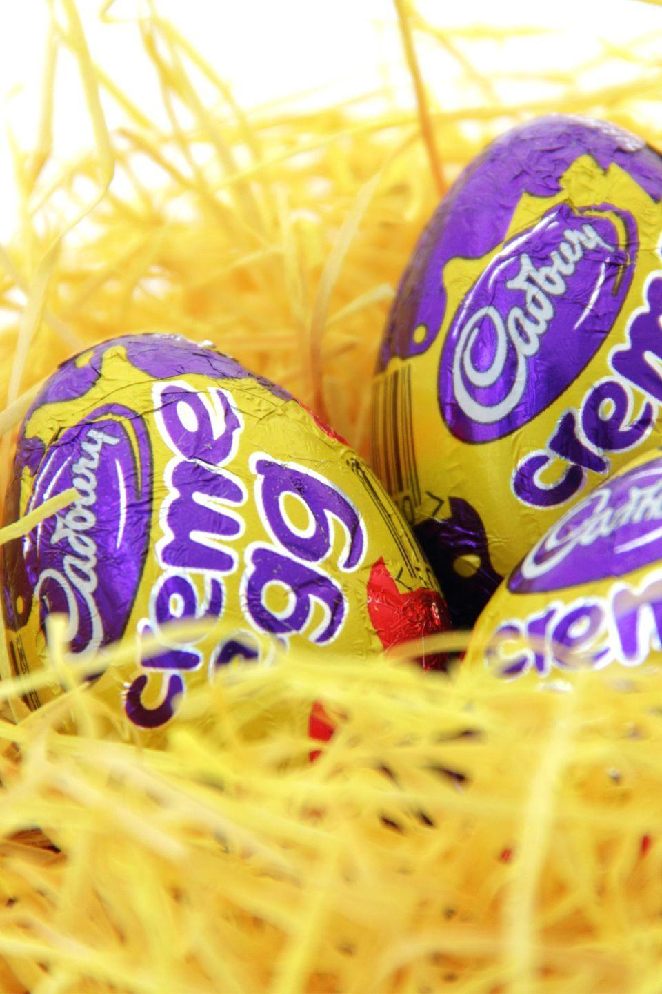 "<p>Even more impressive is that the Bournville factory in Birmingham, England, makes 500 million every year. If you piled those eggs on top of each other, they'd be <a href=""http://www.lifedeathprizes.com/lists/facts-about-cadbury-creme-eggs-and-recipes-41189"" rel=""nofollow noopener"" target=""_blank"" data-ylk=""slk:taller than Everest"" class=""link rapid-noclick-resp"">taller than Everest</a>.</p><p><strong>RELATED:</strong> <a href=""https://www.goodhousekeeping.com/holidays/easter-ideas/a26293194/cute-easter-instagram-captions/"" rel=""nofollow noopener"" target=""_blank"" data-ylk=""slk:60 Cute Easter Instagram Captions for Your Egg-ceptional Photos"" class=""link rapid-noclick-resp"">60 Cute Easter Instagram Captions for Your Egg-ceptional Photos</a></p>"