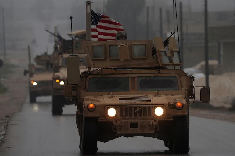 A convoy of US military vehicles in Syria's northern city of Manbij on December 30, 2018 (AFP Photo/Delil SOULEIMAN)