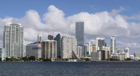FILE PHOTO: The downtown skyline of Miami, Florida