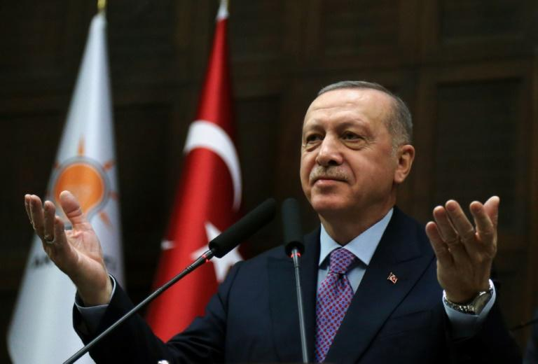 """Turkish president Recep Tayyip Erdogan bluntly warned the Syrian regime to """"stop its attacks as soon as possible"""" (AFP Photo/Adem ALTAN)"""